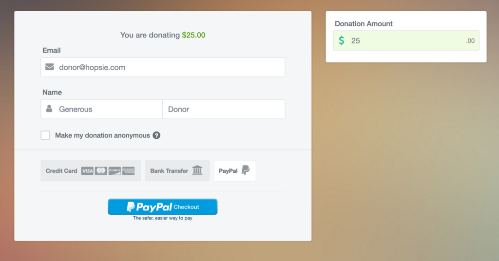 PayPal Donation Step 2