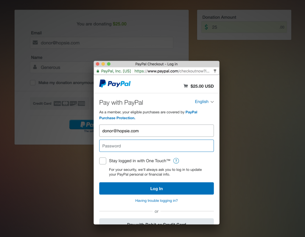 PayPal Donation Step 3