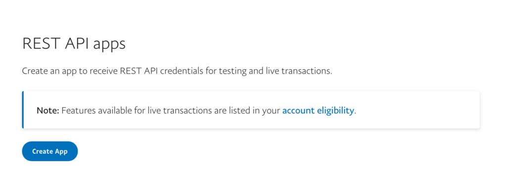 PayPal Setup Step 1